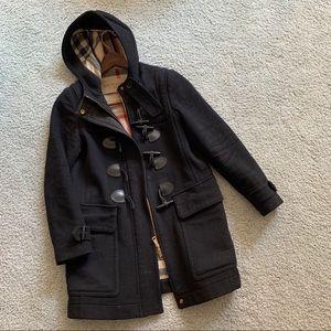 BURBERRY BRIT Black Toggle Winter Coat sz.2